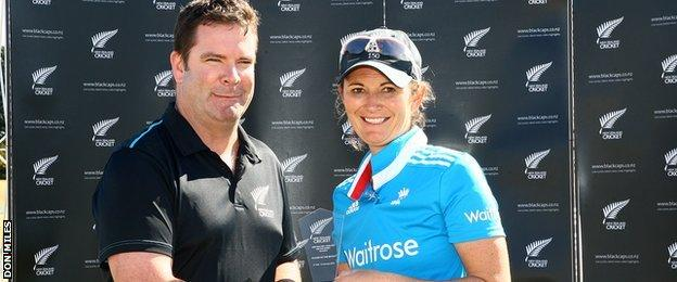 Charlotte Edwards was player of the match