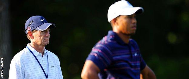 Hank haney & Tiger Woods