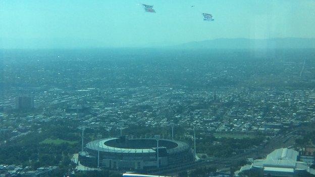The banners above the MCG