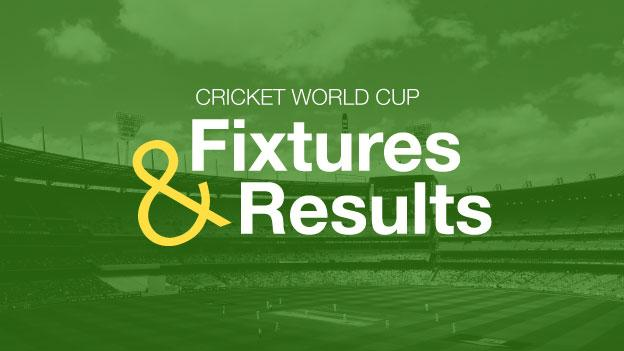 Cricket World Cup 2015: Results, tables and reports - BBC Sport