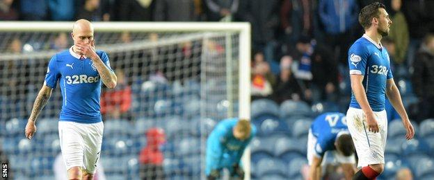 Rangers put a lot of effort into the game but saw Hibs leapfrog them into second place.