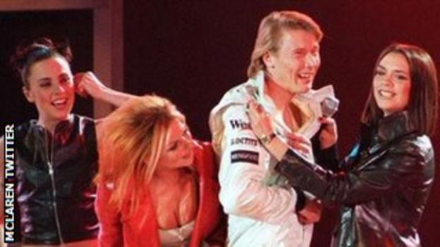 Spice Girls at 1997 McLaren team launch