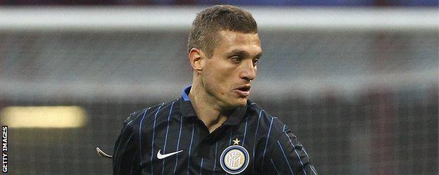 Inter Milan defender Nemanja Vidic