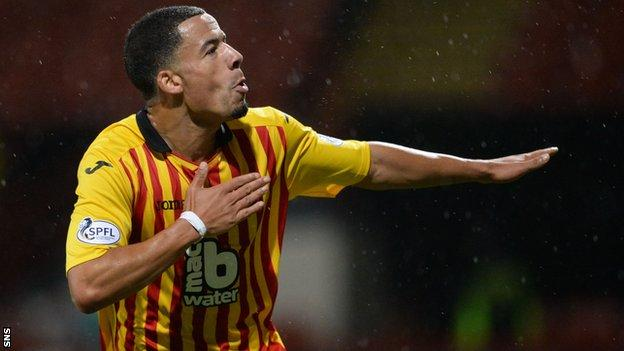 Nathan Eccleston scored twice for Partick Thistle.