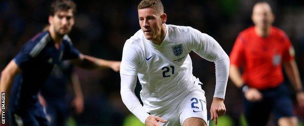 England midfielder Ross Barkley