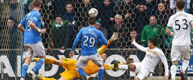 Michael O'Halloran was on target for St Johnstone