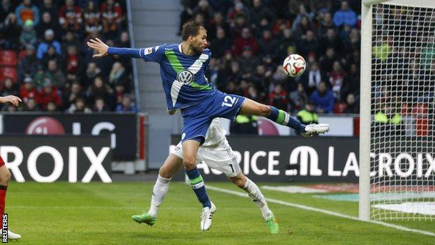 Wolfsburg's Bas Dost