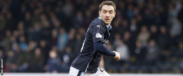Striker Paul Heffernan made his debut for Dundee in a game of few chances