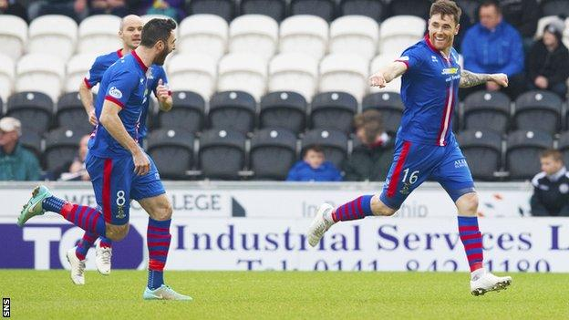 Greg Tansey (right) gave Inverness an early lead against St Mirren.