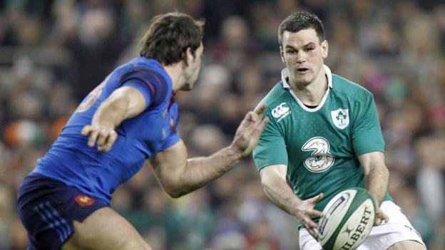 Ireland's man-of-the-match Jonny Sexton kicked five of his side's six penalties in the 18-11 win over the French in Dublin