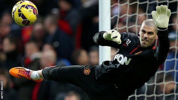 Manchester United goalkeeper Victor Valdes