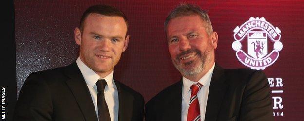 Wayne Rooney and Brian McClair