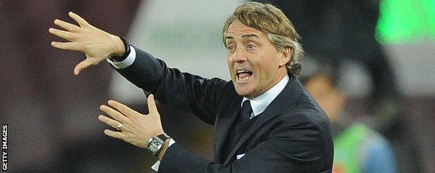 Internazionale coach Roberto Mancini