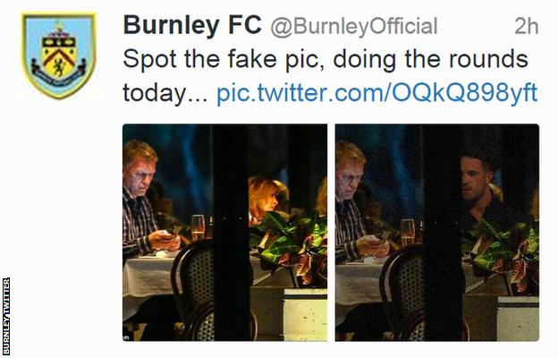 Burnley's Twitter post about Danny Ings and David Moyes
