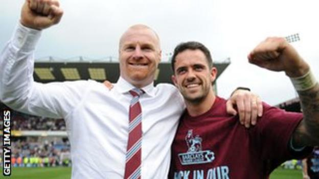 Danny Ings with Sean Dyche