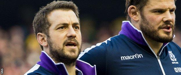 Scotland captain Greig Laidlaw and hooker Ross Ford