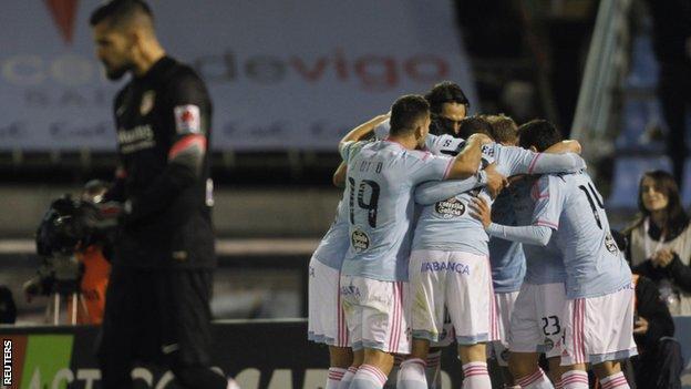 Celta Vigo celebrate