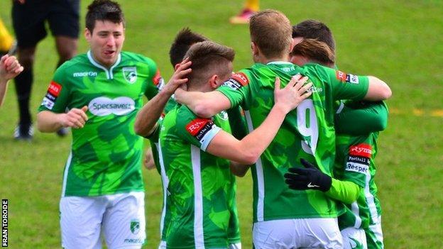 Guernsey FC celebrate