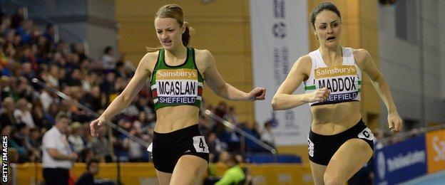 Kirsten McAslan beats Laura Maddox to the line