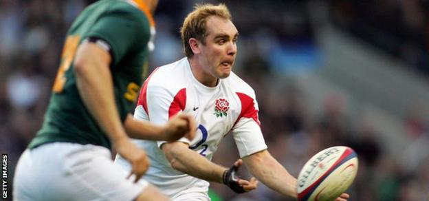 Andy Goode in action for England