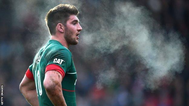 Leicester Tigers fly-half Owen Williams
