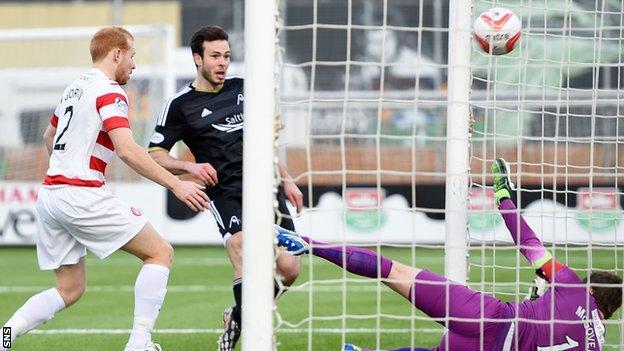 Andrew Considine nets against Hamilton