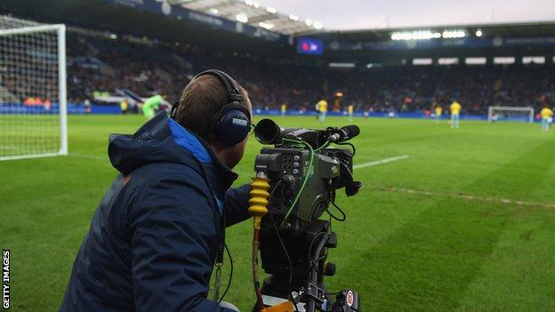 Premier League cameraman