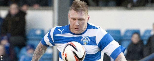 Garry O'Connor in action for Greenock Morton