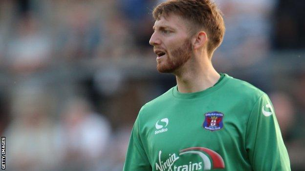 Carlisle United goalkeeper Mark Gillespie