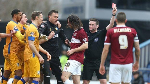 John-Joe O'Toole is sent off