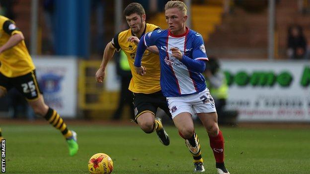 Carlisle United midfielder Kyle Dempsey