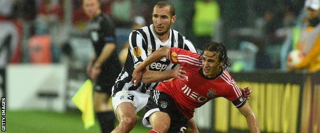 Lazar Markovic (right) against Juventus in the Europe League