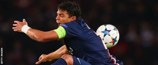 PSG captain Thiago Silva