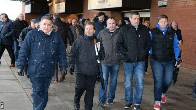 Rangers fans attend the agm in December