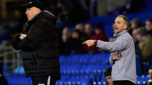 Russell Slade (R) and Paul Trollope
