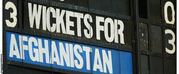 The scoreboard shows Afghanistan 3-3
