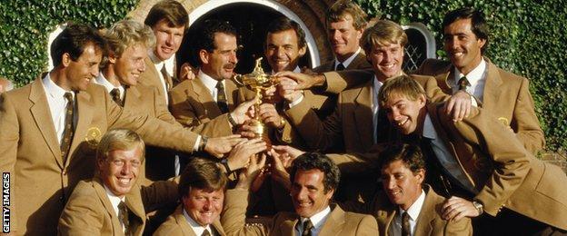 Europe's winning Ryder Cup team