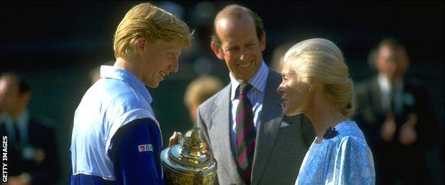 Boris Becker and the Duchess of Kent