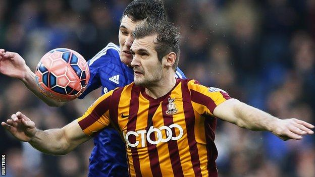 Bradford striker James Hanson