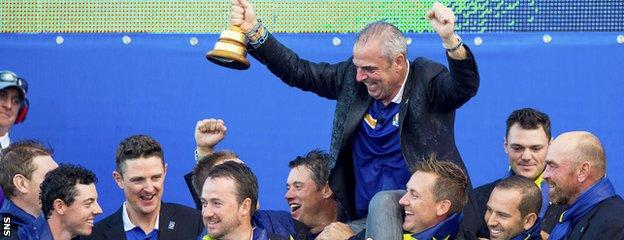 Paul McGinley captained Team Europe to victory at Gleneagles in 2014