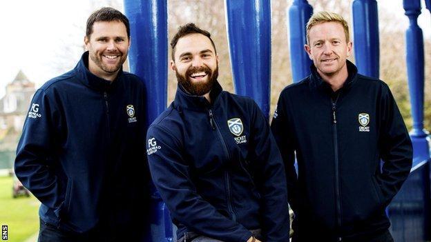 Craig Wright, Preston Mommsen and Paul Collingwood