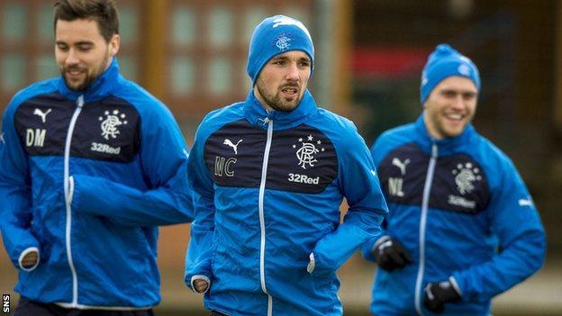 Rangers' Nicky Clark in training