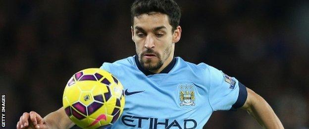 Manchester City winger Jesus Navas