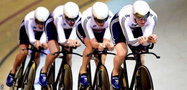 The GB men's pursuit team