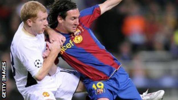 Paul Scholes and Lionel Messi