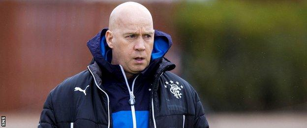 Rangers caretaker manger Kenny McDowall