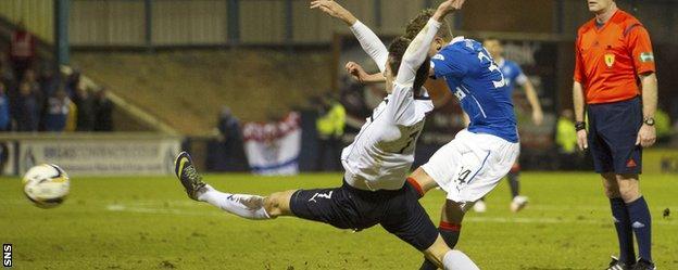 Murdoch's wonder goal gave Rangers the lead at Stark's Park