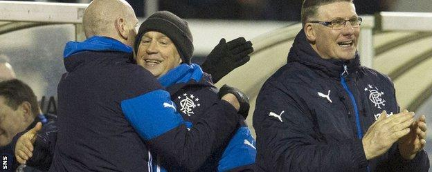 Kenny McDowall celebrates the end of his side's three match losing run
