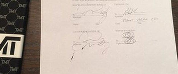 Floyd Mayweather and Manny Pacquiao signed contract
