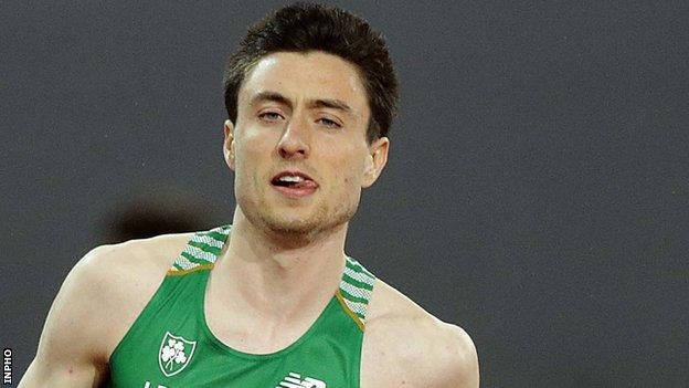 Mark English after finishing third in the 800m final at the European Championships in August